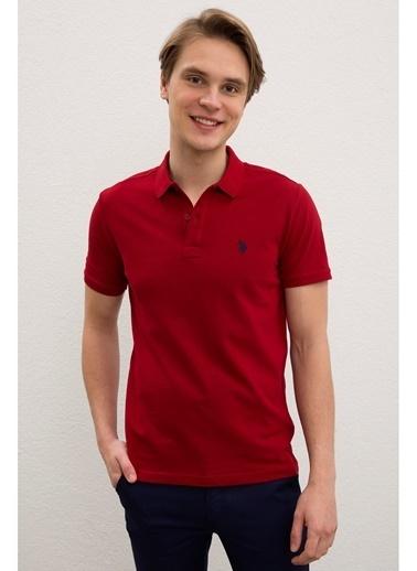 U.S. Polo Assn. U.S. Polo Assn. Slim Fit Erkek T-Shirt Bordo